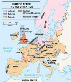 Protestant reformation map and chart map activities protestant the protestant reformation 133 world historyhistory gumiabroncs Image collections