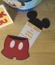 Cute Mickey Mouse Invites and Thank You cards on Creative Cutter Room