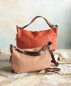 Elan Crossbody Bag - dreamy, pebbled leather with stitched accents ...