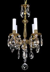 Crystal chandelier Antique Ceiling Lights, Candle Sconces, Vintage Antiques, Wall Lights, Chandelier, Candles, French, Crystals, Lighting