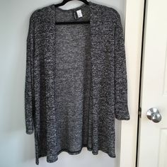 H&M Heathered Grey Cardigan Worn once, great light cardigan from H&M. Price negotiable. H&M Sweaters Cardigans