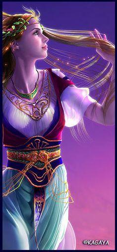 El arte de la fantasía-Bellísima imagen de la Divinidad Tellus.
