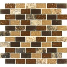 MS International Sonoma Blend 12 in. x 12 in. x 8 mm Glass Stone Mesh-Mounted Mosaic Tile-SGL-SB-8MM at The Home Depot