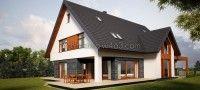 dom jednorodzinny 03 - projekt domu jednorodzinnego i wnętrz - inwestycja zakończona