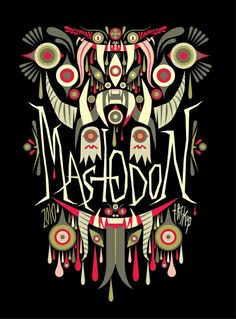 """MASTODON artwork graphic  """"The World's No:1 Online Heavy Metal T-Shirt Store"""". Check it out our Metalhead Clothing and Apparel Store, Satanic Fashion and Black Metal T-Shirt Stores; www.HeavyMetalTshirts.net"""
