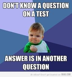 Haha, I remember that happening to me a few times, I think mainly in history tests.