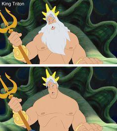 King Triton without his beard