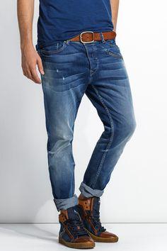 Jeans Slender Slim Carrot com detalhes e lavagem clara | 112578 Medium  Light | Salsa