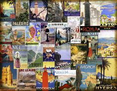 European Cities Collage - Fotobehang & Behang - Photowall