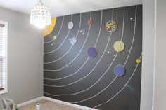 Solar system wall - perfect for a child's room!