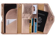 Rose Gold Passport wallet
