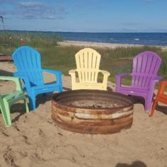 This Super Cute Lakefront Cabin on Lake Huron offers private beach access and a fire pit under the stars — rentals starting at just $150/night! See rates and details: