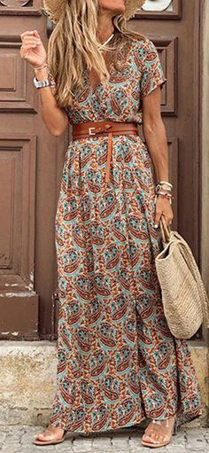 Boho Outfits, Casual Outfits, Fashion Outfits, Womens Fashion, Dress Fashion, Summer Outfits, Fashion Tips, Elegant Dresses, Casual Dresses