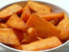 Süße Süßkartoffel-Spalten