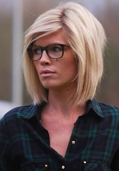 Maybe I'll go back blonde in the spring...Cute haircut and love those glasses