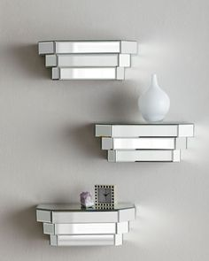 Mirrored Step Shelf at Horchow.