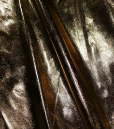Metallic Fabric Tricot Lame Gold