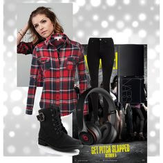 """Beca """"pitch perfect"""" by meadowleeanna on Polyvore featuring J.TOMSON, Dr. Denim, NARS Cosmetics and Beats by Dr. Dre"""