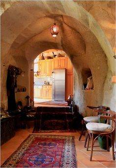 A house built in Turkish Caves...