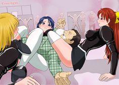 anime mixed wrestling headscissor and a double body scissor http://uk.pinterest.com/andrewmarsland0/
