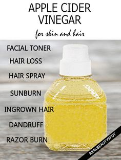 DIY treatments using Apple cider vinegar for skin and hair