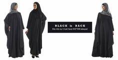 Black #KaftanAbayas at #EastEssence