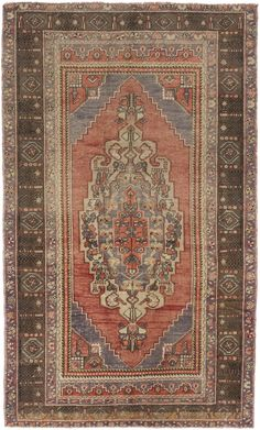 "4'7"" x 7'7"" Vintage Turkish Anatolian Rug"