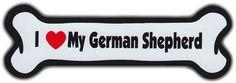 I Love My German Shepherd Car Magnet