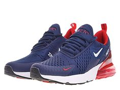 hot sale online 3a416 2bc41 Site Officiel 2019 Nike Air Max 270 Pas Cher Homme Bleu blanc rouge AH8050 -416