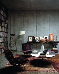 industrial concrete library-interior-design