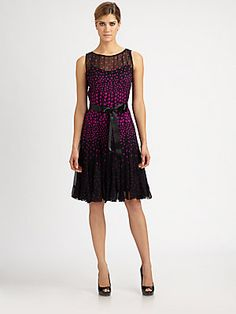 Teri Jon Chiffon Polka Dot Dress at Saks Fifth Avenue $469CDN .. Mar 2013