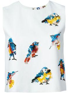 MSGM sequin bird tank top