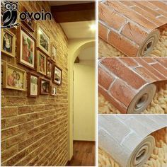 Red/Brown/Beige 3D Embossed Brick Wallpaper Roll Rustic Brick Vinyl Wall Paper Background Restaurant,Room Wallcovering-in Wallpapers from Home & Garden on Aliexpress.com | Alibaba Group