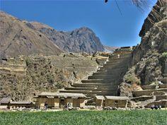 Ollantaytambo ruins in the Sacred Valley of Peru