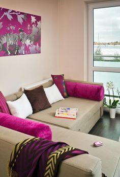 Ideen Fürs Wohnzimmer Streichen Flieder Wandfarbe Polster Ecksofa | Haus |  Pinterest | Wohnzimmer Streichen, Ecksofa Und Wandfarbe