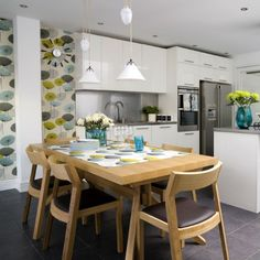 White Kitchen Feature Wall white kitchen, karndean wood effect floor | kitchen | pinterest