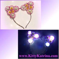 #LUVIT  LUVin' this Customizable LED Cat Ears Headband that is shipping out  Customize your LED Cat Ears at KittyKatrina.com in our LED Crowns / Headbands Section  #ledflowercrown #flowercrown #flowerheadband #catears #catearsheadband #kittyears #flowerchild #rave #ravecostume #raveoutfit #ravewear #festivalfashion #festivalstyle #edm #edmfashion #edmstyle #burningman #lollapalooza #electriczoo #ezoo #nocturnalwonderland #campbisco #moonrise #moonrisefestival #outsidelands