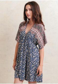 Foreign Lands Paisley Dress   Modern Vintage Folk Inspired   Ruche