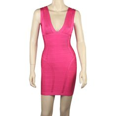 Aliexpress.com : Buy New Arrival July 2013 Pink V Neck Mini Sexy Celebrity Bandage Dress   Lower Discount  Mixed Wholesale Free Shipping from Reliable dress suppliers on High Quality Celebrity Dresses $55.00