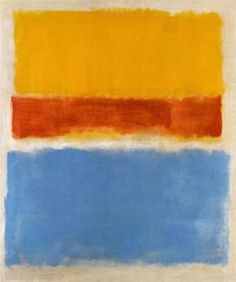 """2,358 Likes, 8 Comments - Atelier Doré (@atelierdore) on Instagram: """"Mark Rothko, Untitled (Yellow, Red and Blue), 1953. #AtelierDoréInspiration"""""""