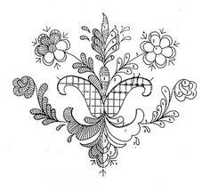 Bunad fra Trysil. Broderi mønster til skjørtet