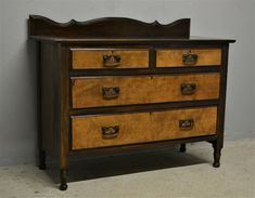 Antique Chest Of Drawers Mahogany Burr Walnut Delivery Available