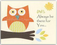 Nursery wall art print, Baby boy room decor, Owls ...OWL always love…