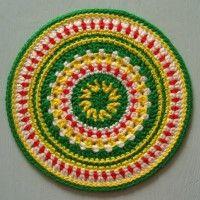 Crochet Mandala Wheel made  in Belgium, for yarndale.co.uk