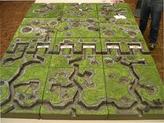 Great War trench terrain from the German lines