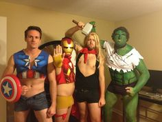 33 Funny Sexy Halloween Costume Ideas That Prove Funny Is the New Sexy Gay Halloween Costumes, Group Costumes, Halloween Ideas, Female Superhero Costumes Diy, Female Costumes, Halloween Humor, Superhero Cosplay, Halloween 2016, Adult Halloween