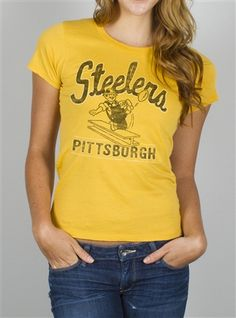 610cfa250 NFL Women s Pittsburgh Steelers Kickoff Crew T-Shirt