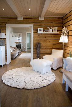 Cabin Interior Design, House Design, Log Home Interiors, Warm Home Decor, Cottage Homes, Simple House, Log Homes, Cozy House, Cabana