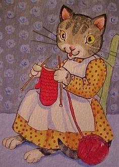 Kitten Knittin Mitten by ~Disgustedcats on deviantART Knitting Quotes, Knitting Humor, Crochet Humor, Knitting Stitches, Knitting Patterns, Knitting Ideas, Crochet Cross, Bead Crochet, Caricatures