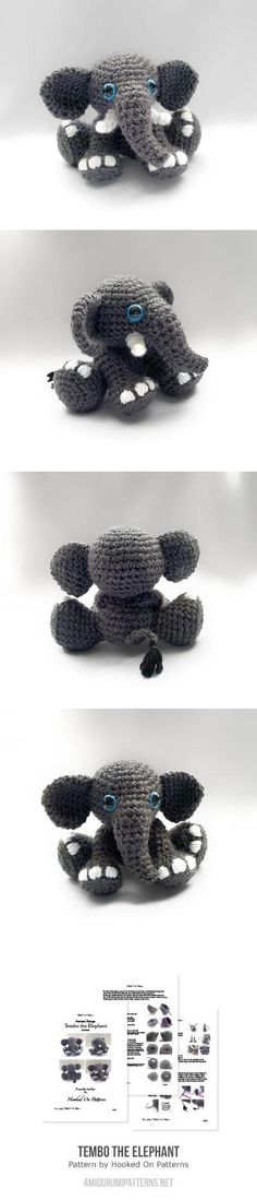 Tembo The Elephant Amigurumi Pattern; easy to follow pattern, well written. Turns out just like the photo. I will make it again. ~BW